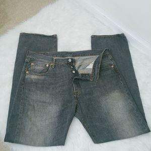 Levi's 501 button fly Jeans denim 34 x 32